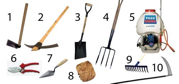 Vida en la tierra herramientas de agricultura para el Herramientas artesanales